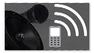 Built-in microphone and speakers for hands-free mobile calls