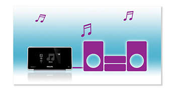 Collegati allo stereo o all'home theater