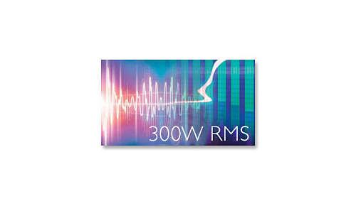 Totaal uitgangsvermogen van 300 W RMS