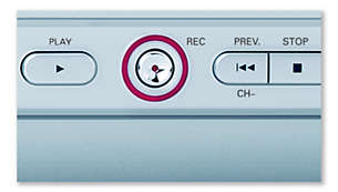 One touch MP3 recording, no PC needed