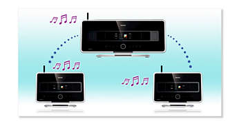 Music Broadcast: Listen to the same music on all stations