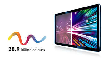 28,9 mil milhões de cores para imagens naturais e brilhantes