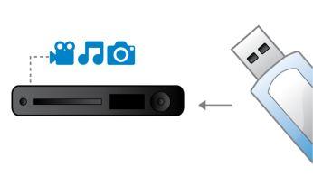 USB Media Link para reprodução de mídia em drives USB flash