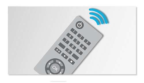 Handige afstandsbediening voor meer bedieningsgemak