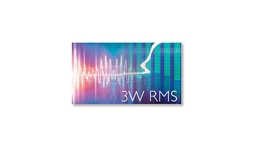 Totaal uitgangsvermogen van 3 W RMS