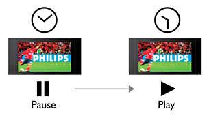 One Touch Pause Live TV hält das Bild sofort an