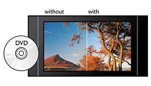 Realce visual de DVD hasta 1080p mediante HDMI