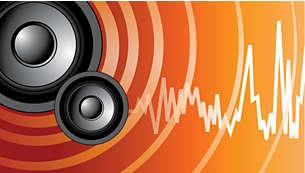 Utmärkt ljudkvalitet med mjuka dome tweeter-högtalare och DoubleBASS