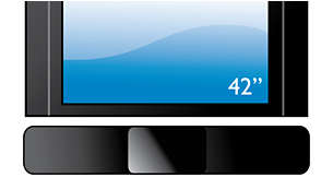 """Compatível com qualquer Flat TV com encaixe perfeito para TV de 42"""" ou maior"""