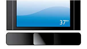 Odpowiedni do każdego płaskiego telewizora, optymalnie dopasowuje się do telewizorów 37-calowych lub większych