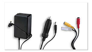 AC adapter, car adapter and AV cable included