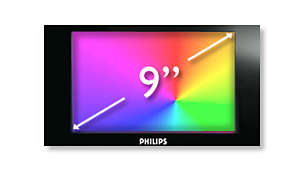 "22.9 cm (9"") TFT color LCD display in 16:9 widescreen format"