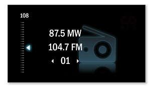 FM/MW digital tuning for station presets
