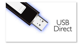 USB Direct reproduz fotografias e música das unidades USB flash