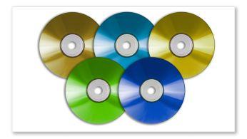 Възпроизвеждане на DVD, (S)VCD, MP3-CD, CD(RW) и CD със снимки