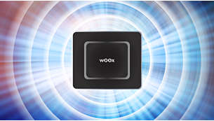 Alto-falantes wOOx duplos para uma experiência de graves aprimorada