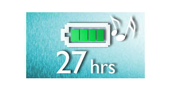 Up to 27-hour music playback*