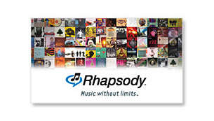 Rhapsody® for online music subscription service