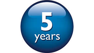 Long-lasting performance of up to 5 years