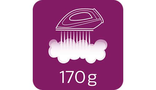 Dampfstoß von bis zu 170g