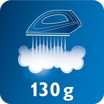 Golpe de vapor de 130g para eliminar fácilmente las arrugas rebeldes