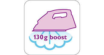 130 g steam boost to remove stubborn creases easily