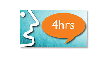 Up to 4-hour talk time*
