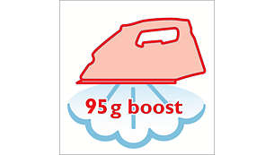 Stoomstoot tot 95 g voor de meest hardnekkige kreuken