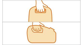 Twee comfortabele handgrepen voor extra gebruiksgemak