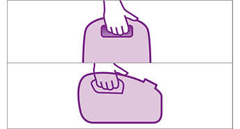 To praktiske bærehåndtag, der gør det nemt at bære støvsugeren