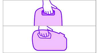 A két kényelmes hordfogantyú fokozott kényelmet biztosít