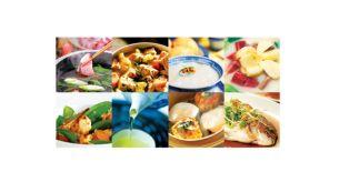 8 healthy cooking menu featuring unique heating program