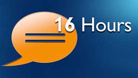 16 saate kadar konuşma süresi