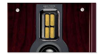 Qualité sonore exceptionnelle grâce au haut-parleur d'aigus à dôme en soie