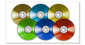Play DVD, DVD+/-R, DVD+/-RW, (S)VCD, DivX® and MPEG4 movies