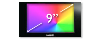 "22.9 cm (9"") TFT color widescreen LCD display"