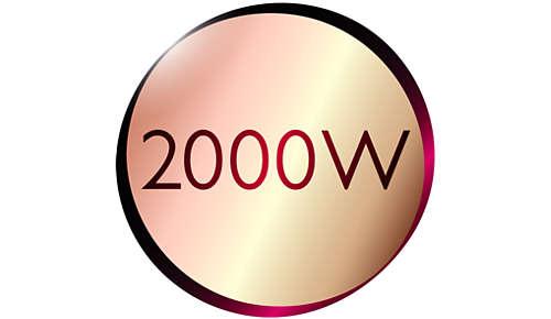 Professionelle Leistung von 2000W für ein perfektes Ergebnis wie vom Friseur