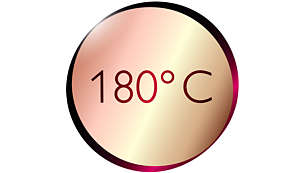 180°C temperature for beautiful results