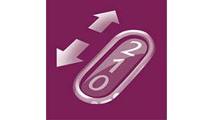 Dos posiciones de velocidad para una depilación suave con rendimiento máximo