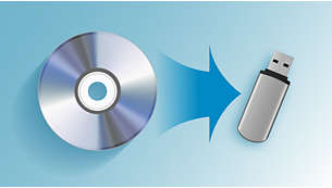 Copia música de CD a dispositivos USB