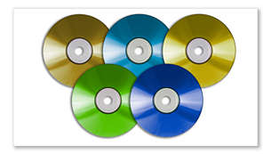 Reproduz DVD, DivX ® Ultra, MP3/WMA-CD, CD e CD-RW