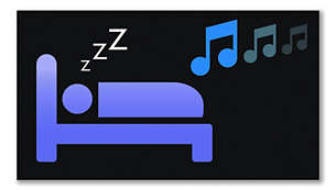Peaceful sleep timer with gradual music fade-out