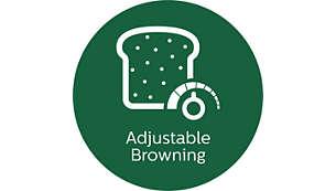 Control de tostado ajustable