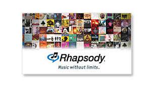Rhapsody® online music service