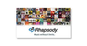 Service de musique en ligne Rhapsody®