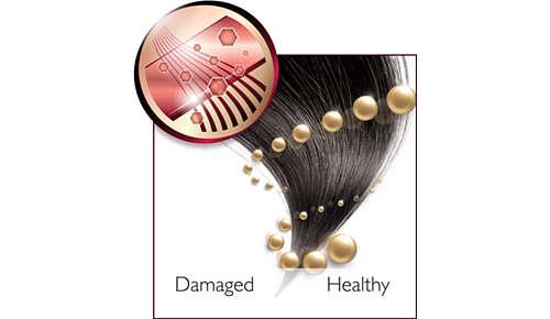 Pielęgnacja jonowa zapewniająca proste, lśniące włosy