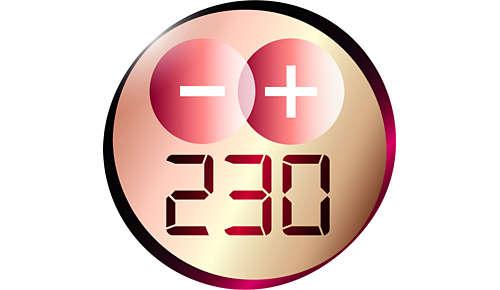 Temperatura profesional (230°C) para un resultado perfecto como de peluquería