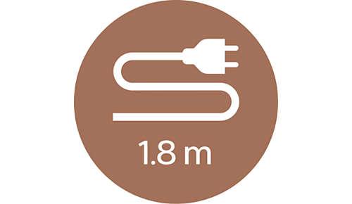 1,8m kabel pro maximální flexibilitu