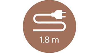 1.8 公尺電源線設計,使用最靈活