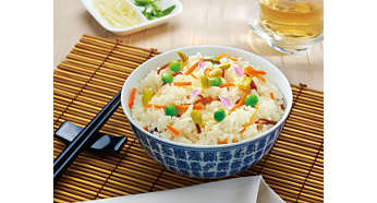 Reheat function for fresh rice instantly
